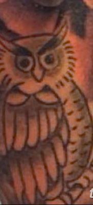 фото тату сова с ключом от 18.10.2017 №045 – owl tattoo with key – tatufoto.com