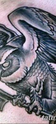 фото тату сова с ключом от 18.10.2017 №053 – owl tattoo with key – tatufoto.com
