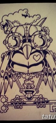 фото тату сова с ключом от 18.10.2017 №060 – owl tattoo with key – tatufoto.com