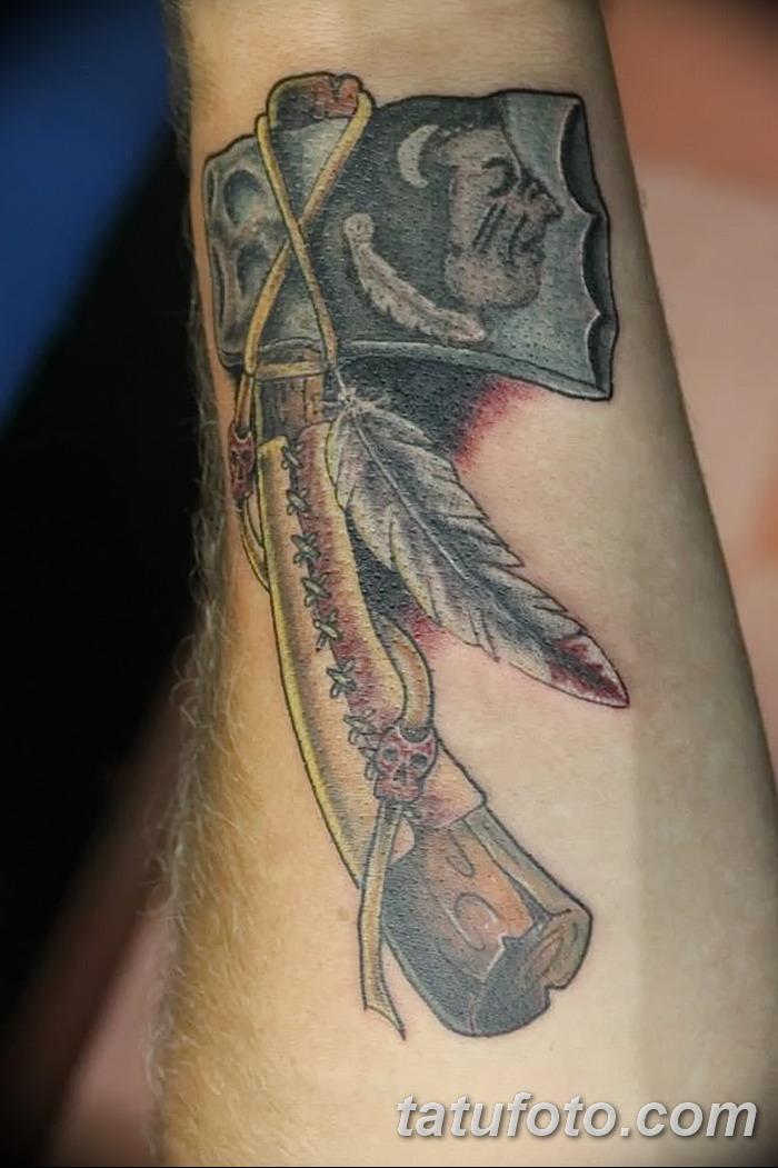 фото тату томагавк от 21.10.2017 №001 - tomahawk tattoo - tatufoto.com