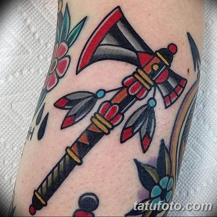 фото тату томагавк от 21.10.2017 №010 - tomahawk tattoo - tatufoto.com