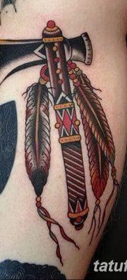 фото тату томагавк от 21.10.2017 №020 – tomahawk tattoo – tatufoto.com
