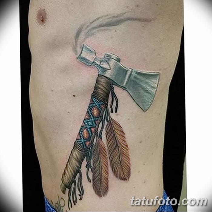 фото тату томагавк от 21.10.2017 №023 - tomahawk tattoo - tatufoto.com