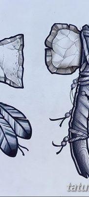 фото тату томагавк от 21.10.2017 №024 – tomahawk tattoo – tatufoto.com