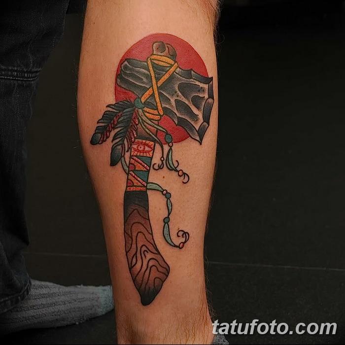 фото тату томагавк от 21.10.2017 №028 - tomahawk tattoo - tatufoto.com