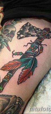 фото тату томагавк от 21.10.2017 №030 – tomahawk tattoo – tatufoto.com