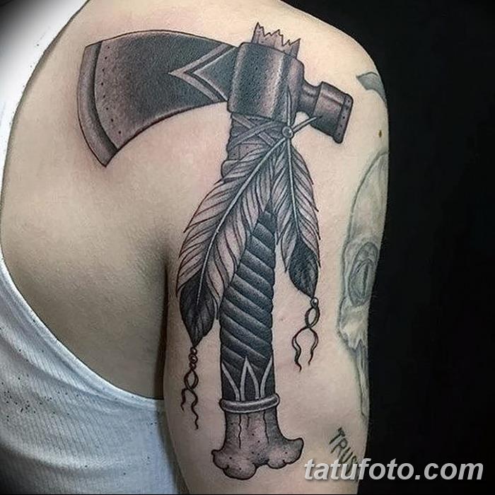 фото тату томагавк от 21.10.2017 №034 - tomahawk tattoo - tatufoto.com