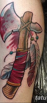 фото тату томагавк от 21.10.2017 №040 – tomahawk tattoo – tatufoto.com