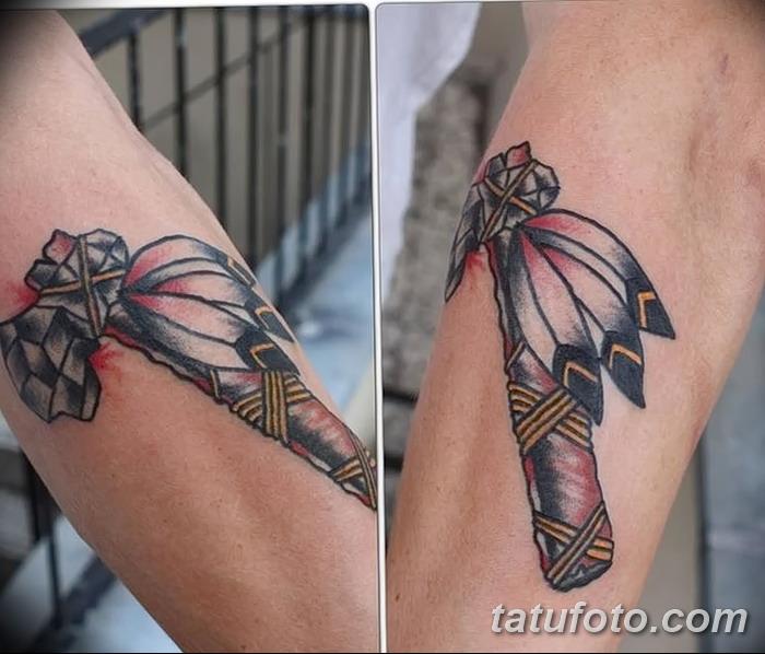 фото тату томагавк от 21.10.2017 №044 - tomahawk tattoo - tatufoto.com