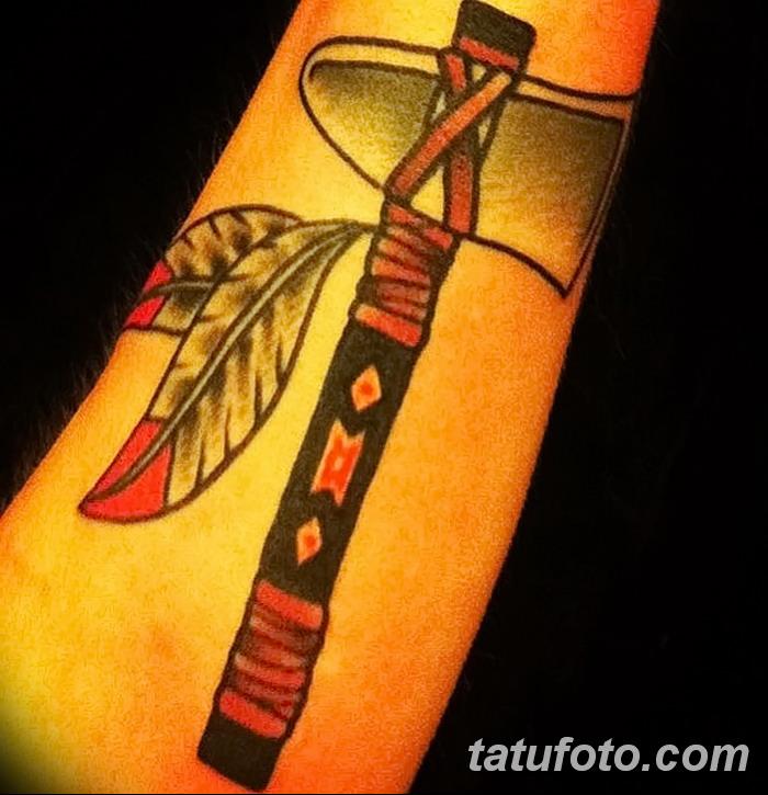 фото тату томагавк от 21.10.2017 №047 - tomahawk tattoo - tatufoto.com