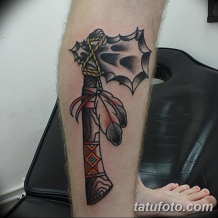 фото тату томагавк от 21.10.2017 №049 - tomahawk tattoo - tatufoto.com
