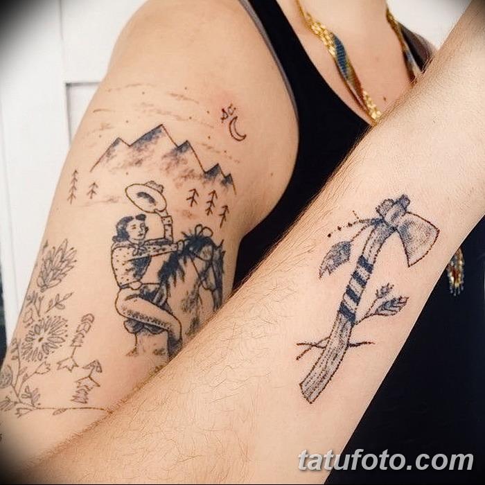 фото тату томагавк от 21.10.2017 №050 - tomahawk tattoo - tatufoto.com