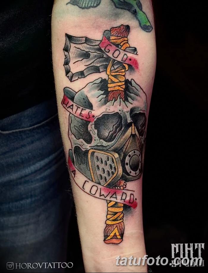фото тату томагавк от 21.10.2017 №051 - tomahawk tattoo - tatufoto.com