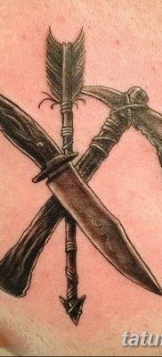 фото тату томагавк от 21.10.2017 №055 – tomahawk tattoo – tatufoto.com