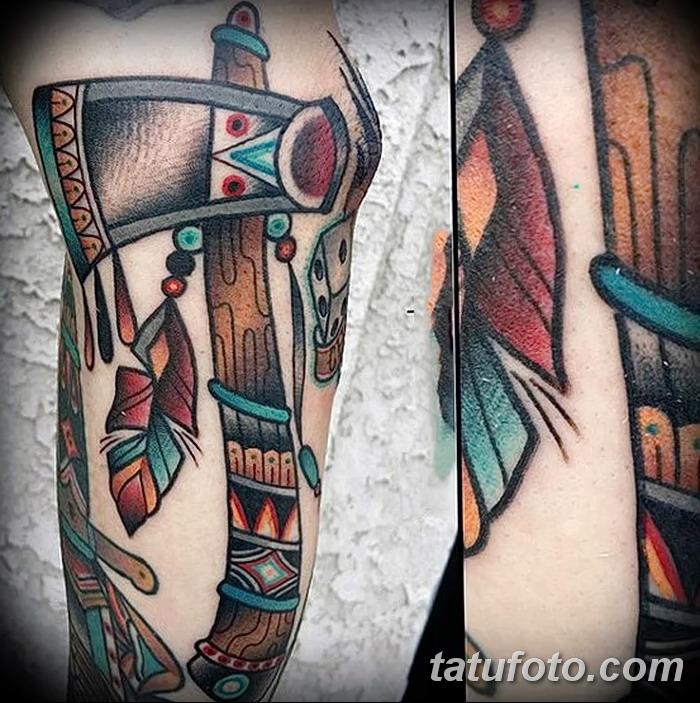 фото тату томагавк от 21.10.2017 №058 - tomahawk tattoo - tatufoto.com
