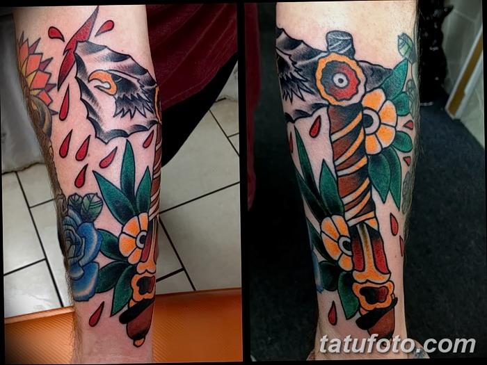 фото тату томагавк от 21.10.2017 №062 - tomahawk tattoo - tatufoto.com