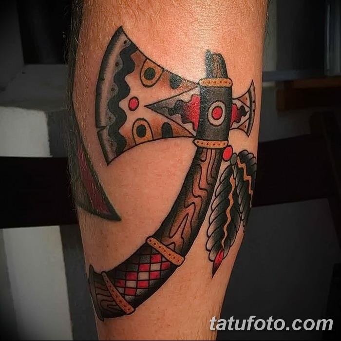фото тату томагавк от 21.10.2017 №064 - tomahawk tattoo - tatufoto.com
