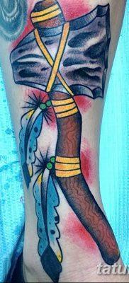 фото тату томагавк от 21.10.2017 №066 – tomahawk tattoo – tatufoto.com