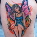 фото тату фея от 28.10.2017 №110 - Fairy Tattoo - tatufoto.com