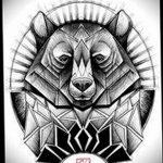 фото эскизы тату дотворк от 10.10.2017 №097 - sketches tattoo dotwork - tatufoto.com