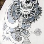 фото эскизы тату дотворк от 10.10.2017 №113 - sketches tattoo dotwork - tatufoto.com
