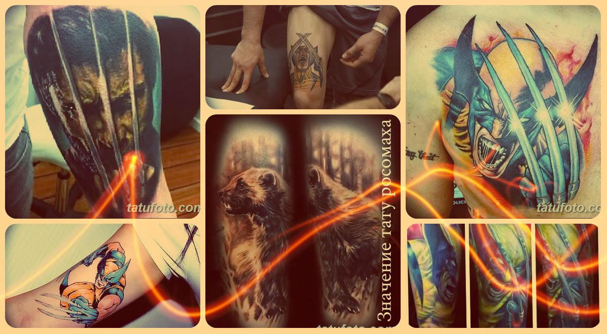 Значение тату росомаха - варианты готовых рисунков татуировки на фото