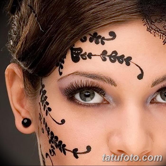 фото Мехенди на лице от 27.11.2017 №010 - Mehendi's face - tatufoto.com