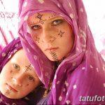 фото Мехенди на лице от 27.11.2017 №017 - Mehendi's face - tatufoto.com