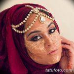 фото Мехенди на лице от 27.11.2017 №035 - Mehendi's face - tatufoto.com
