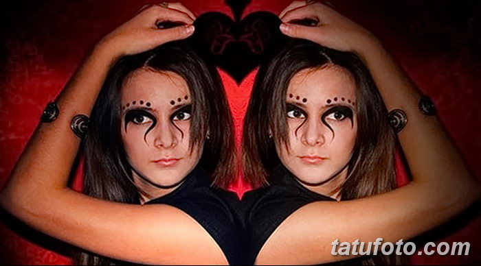 фото Мехенди на лице от 27.11.2017 №045 - Mehendi's face - tatufoto.com