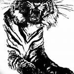 фото Мехенди тигр от 10.11.2017 №030 - Mehendi Tiger - tatufoto.com