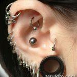фото Пирсинг уха от 20.11.2017 №006 - Ear piercing - tatufoto.com