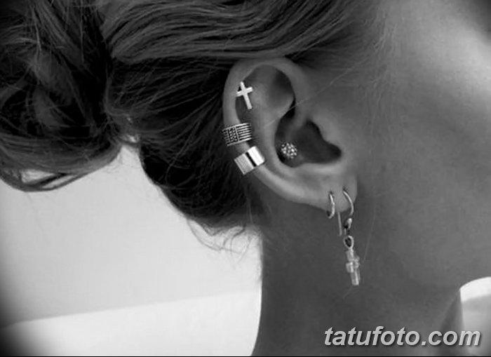 фото Пирсинг уха от 20.11.2017 №023 - Ear piercing - tatufoto.com
