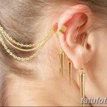 фото Пирсинг уха от 20.11.2017 №031 - Ear piercing - tatufoto.com