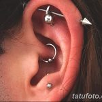 фото Пирсинг уха от 20.11.2017 №033 - Ear piercing - tatufoto.com