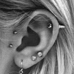фото Пирсинг уха от 20.11.2017 №034 - Ear piercing - tatufoto.com