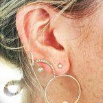 фото Пирсинг уха от 20.11.2017 №040 - Ear piercing - tatufoto.com