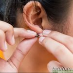 фото Пирсинг уха от 20.11.2017 №048 - Ear piercing - tatufoto.com
