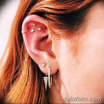 фото Пирсинг уха от 20.11.2017 №055 - Ear piercing - tatufoto.com