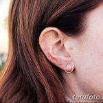 фото Пирсинг уха от 20.11.2017 №064 - Ear piercing - tatufoto.com