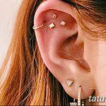 фото Пирсинг уха от 20.11.2017 №085 - Ear piercing - tatufoto.com