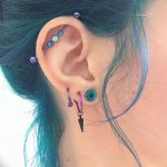 фото Пирсинг уха от 20.11.2017 №100 - Ear piercing - tatufoto.com