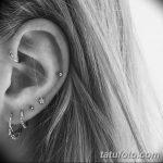 фото Пирсинг уха от 20.11.2017 №105 - Ear piercing - tatufoto.com