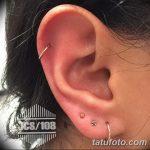 фото Пирсинг уха от 20.11.2017 №107 - Ear piercing - tatufoto.com