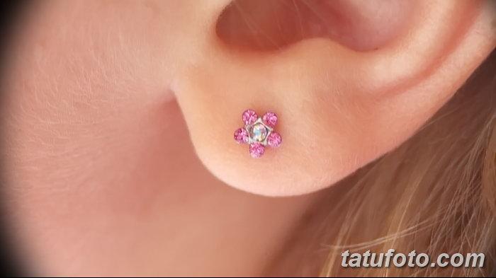 фото Пирсинг уха от 20.11.2017 №113 - Ear piercing - tatufoto.com