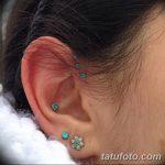 фото Пирсинг уха от 20.11.2017 №122 - Ear piercing - tatufoto.com