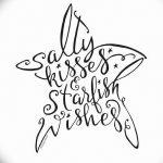 фото Эскизы тату морская звезда от 31.10.2017 №010 - Sketches of a starfish tattoo
