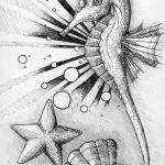 фото Эскизы тату морская звезда от 31.10.2017 №013 - Sketches of a starfish tattoo