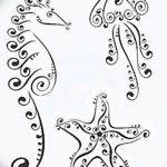 фото Эскизы тату морская звезда от 31.10.2017 №049 - Sketches of a starfish tattoo