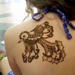 фото рисунок птица хной от 10.11.2017 №007 - drawing a henna bird - tatufoto.com